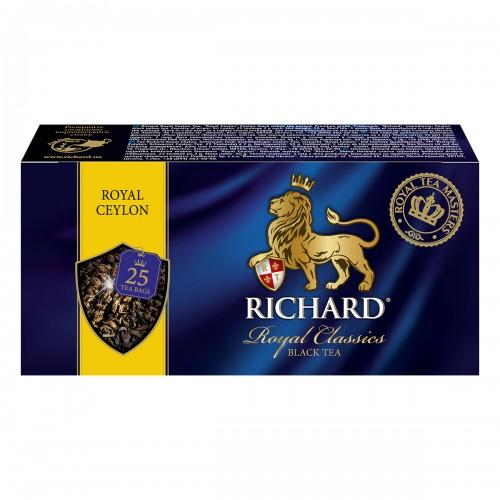 """Чай """"Річард"""" """"Роял Цейлон""""  25 пакетиків 50 г (25*2г)"""