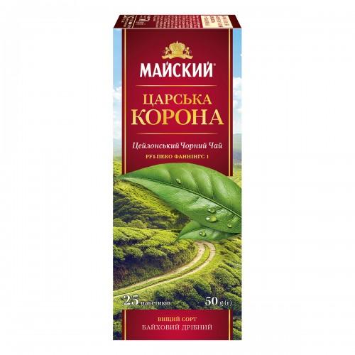 """Чай Майський  """"Царска  Корона""""  25 пакетиків 50 г (25*2г)"""