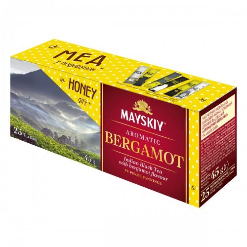 """Чай Майський """"Ароматний Бергамот"""" 25 пакетиків 45 г (25*1,8г)"""