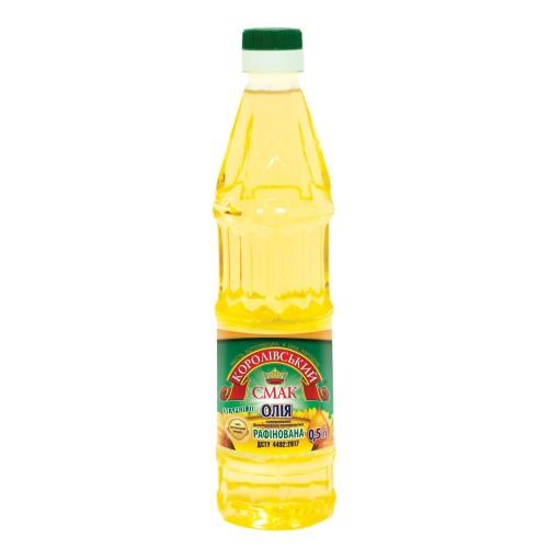"""Олія соняшникова рафінована 0,5л """"Королівський смак"""""""