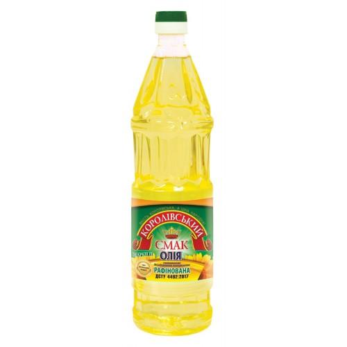 """Олія соняшникова рафінована 0,88л """"Королівський смак"""""""