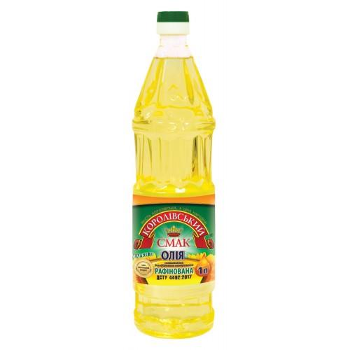 """Олія соняшникова рафінована 1,0л """"Королівський смак"""""""