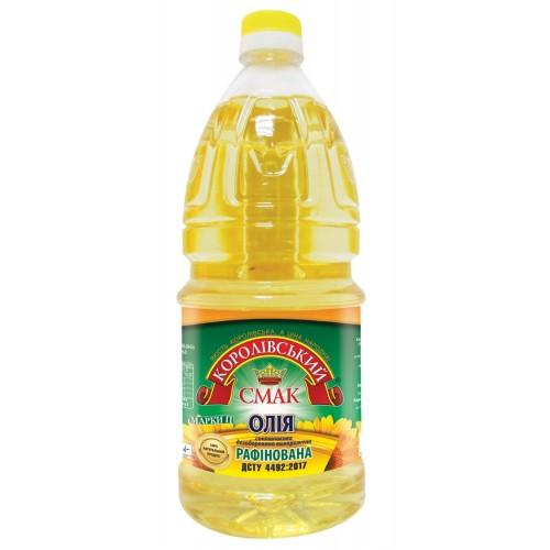 """Олія соняшникова рафінована 1,68л """"Королівський смак"""""""