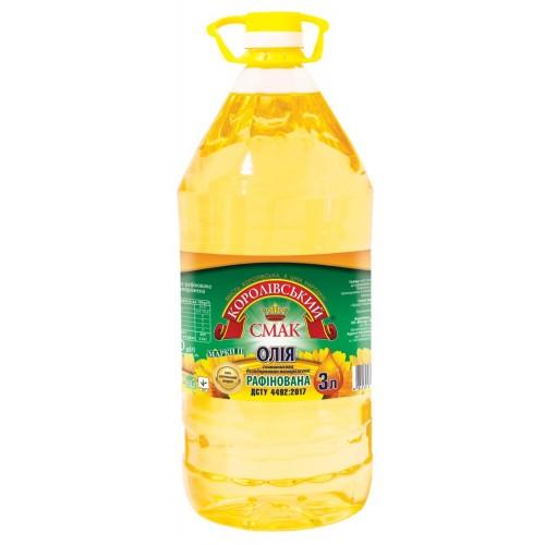 """Олія соняшникова рафінована 3,0л """"Королівський смак"""""""