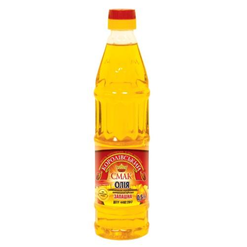 """Олія соняшникова нерафінована """"Запашна"""" 0,5л """"Королівський смак"""""""