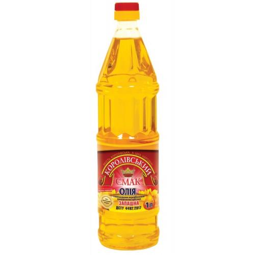"""Олія соняшникова нерафінована """"Запашна"""" 1,0л """"Королівський смак"""""""