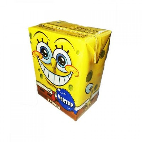 """Нектар тропік  з мякоттю """" Sponge Bob"""" ТМ Квітень 0,2 л"""