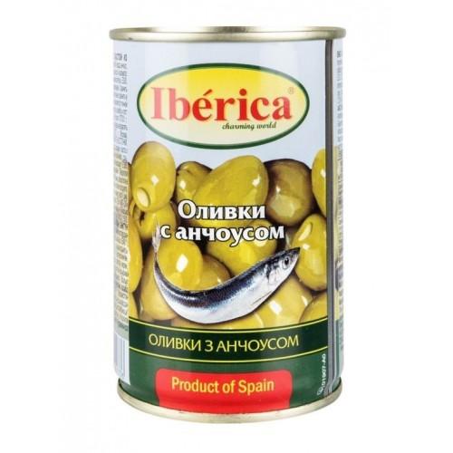 "Оливки ""IBERICA"" фаршировані з анчоусом 280 г"