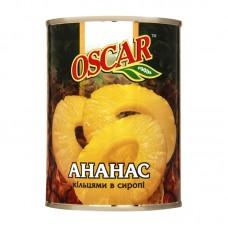 """Ананас  консервований кільцями в сиропі  """" Oscar """" ж/б  580 г"""