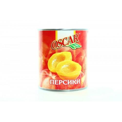 """Персики половинки в легкому сиропі  """" Oscar """" ж/б  850 г"""