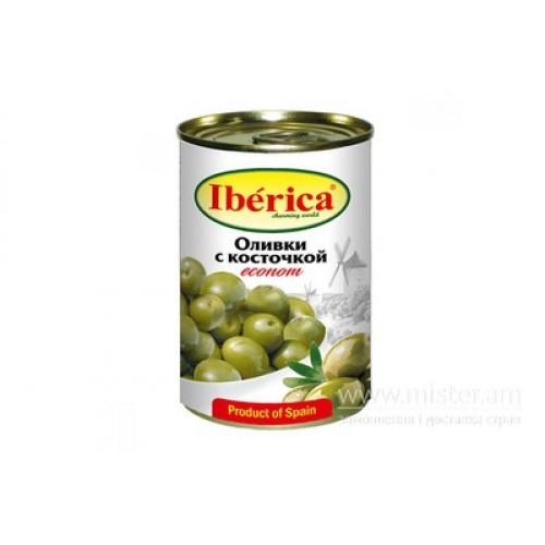 """Оливки """"IBERICA"""" економ  з/к  ж/б  280 г"""