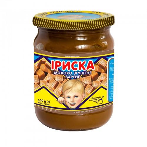 """Молоко згущене з цукром варене """"Іриска"""" 530 г ТМ """"Первомайський МКК"""""""