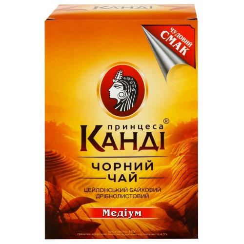 Чай індонезійський чорний байховий дрібний у пакетиках 180 г ТМ «Принцеса КАНДИ»