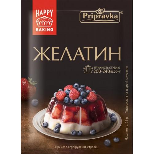 """Желатин харчовий 15 г """"Приправка"""""""