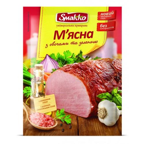 """Приправа універсальна М'ясна з овочами та зеленню 80 г """"Smakko"""""""