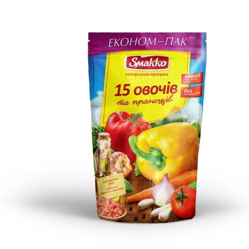 """Приправа універсальна 15 овочів та прянощів 160 г """"Smakko"""""""