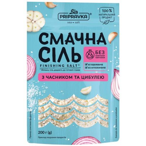 """Соль морская с чесноком и луком Вкусная соль 200 г """"Приправка"""""""