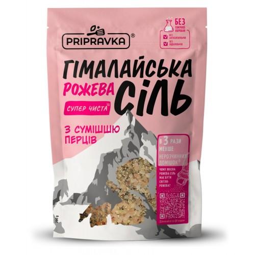 """Сіль харчова Гімалайська рожева з сумішшю перців 200  г """"Приправка"""""""