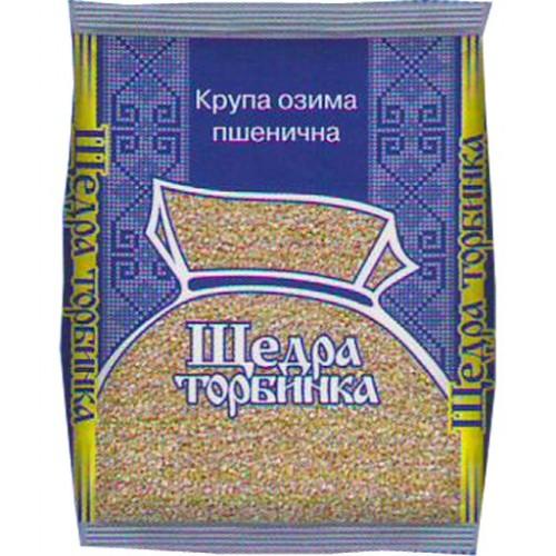 """Крупа озимая пшеничная 600г. """"ЩЕДРА ТОРБИНКА"""""""