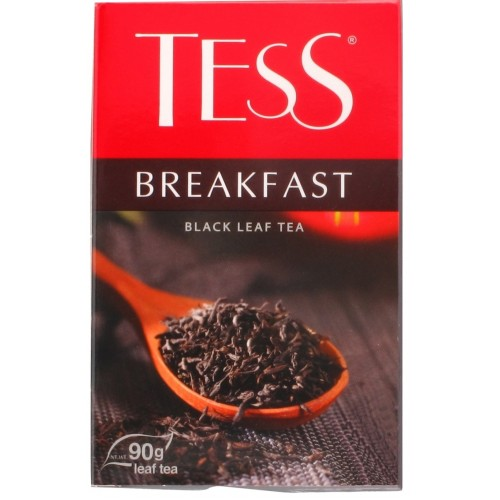Чай цейлонський чорний байховий листовий «Breakfast», 90 г ТМ «Tess»