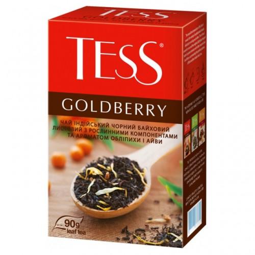 """Чай індійський чорний байховий листовий з ароматом обліпихи та айви """"Goldberry"""", 90 г  TM """"TESS"""""""