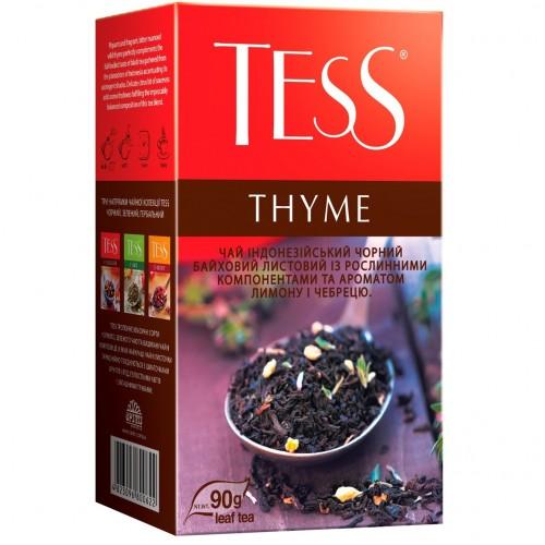 """Чай індонезійський чорний байховий листовий з ароматом лимону і чебрецю """"Thyme"""", 90 г  TM """"TESS"""""""