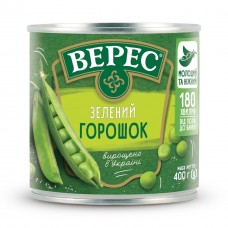 Горошок зелений 200 г «Верес» ж/б
