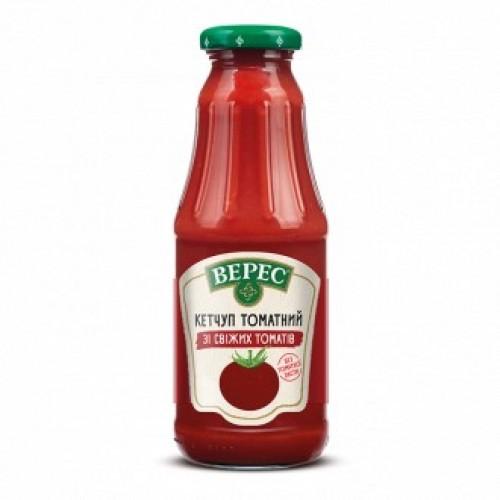 Кетчуп зі свіжих томатів томатний 345 г с/б «Верес»