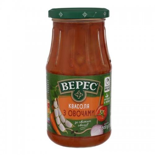 Квасоля з овочами 500 г с/б «Верес»