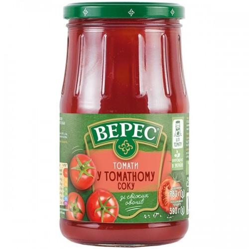Томати у томатному соку 780 г «Верес» с/б