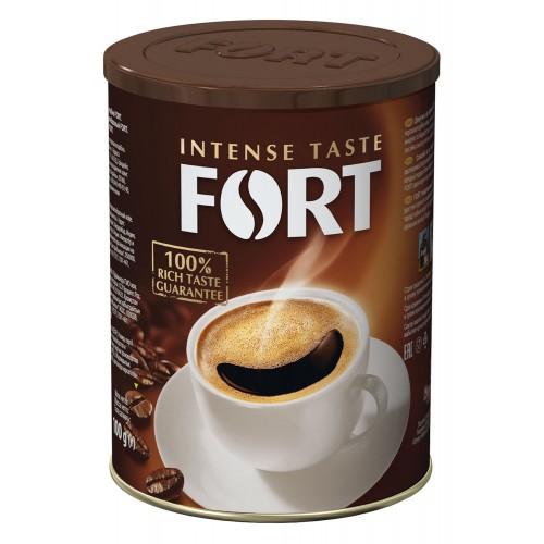 Кава натуральна розчинна ж\б, 100 г ТМ «Fort»