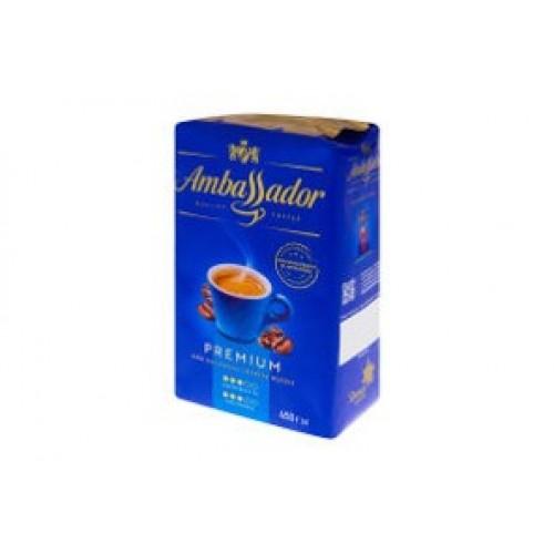 Кава натуральна смажена мелена «Premium», 450 г ТМ «Ambassador»