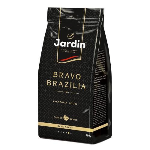 Кава натуральна смажена в зернах  «Bravo Brazilia», 250г. ТМ «Jardin»