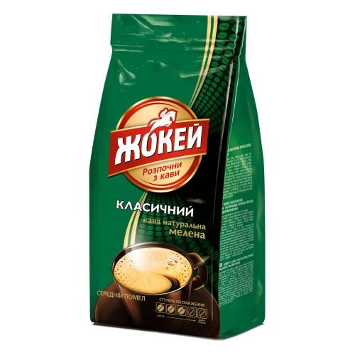 Кава натуральна смажена мелена «Класичний» 100 г, ТМ «Жокей»