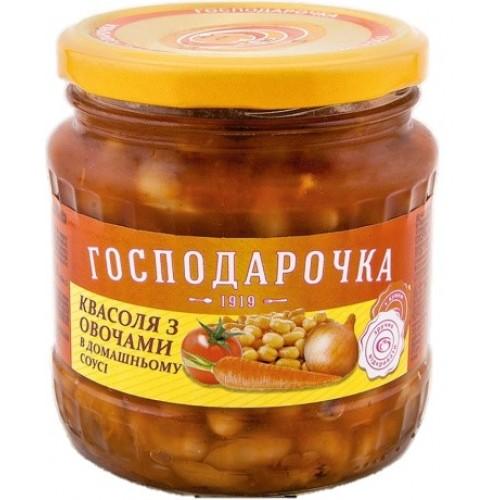 """Квасоля з овочами в домашньому соусі """"Господарочка"""" 440г"""