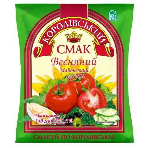 """Соус майонезний 40% """"Весняний"""" 340 г «Королівський смак»"""
