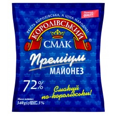"Майонез 72% ""Преміум"" 340 г «Королівський смак»"