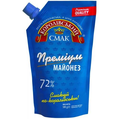"Майонез 72% ""Преміум"" 580 г «Королівський смак»"