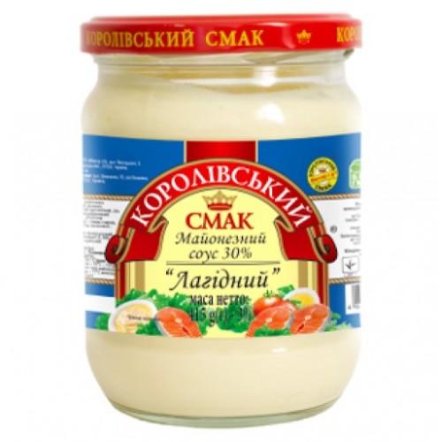 """Майонезний соус """"Лагідний"""" 30% 415 г «Королівський смак»"""