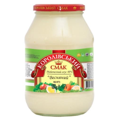"""Майонезний соус """"Весняний"""" 40% 1250 г «Королівський смак»"""