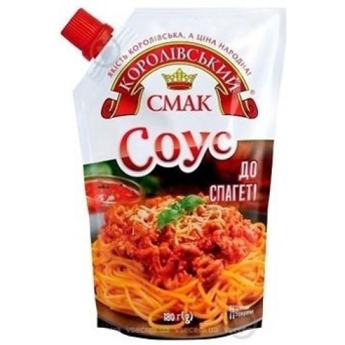 """Соус томатний """"До спагеті"""" 180г  дой-пак зі штуцером """"Королівський смак"""""""