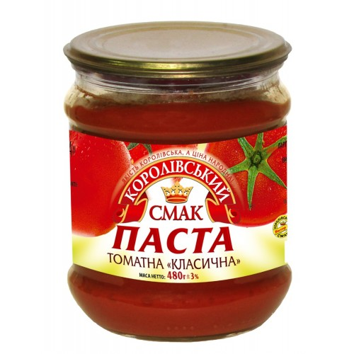 "Томатна паста 25% ""Класична"" 480г с/б ""Королівський смак"""