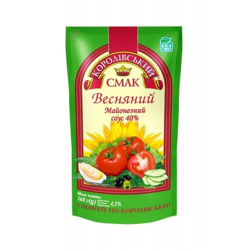 """Майонезний соус """"Весняний""""  40% 160 г «Королівський смак»"""