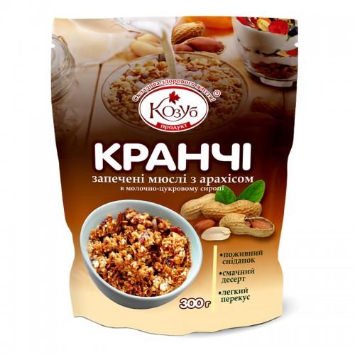 Кранчі - Запечені мюслі з арахісом в молочно-цукровому сиропі