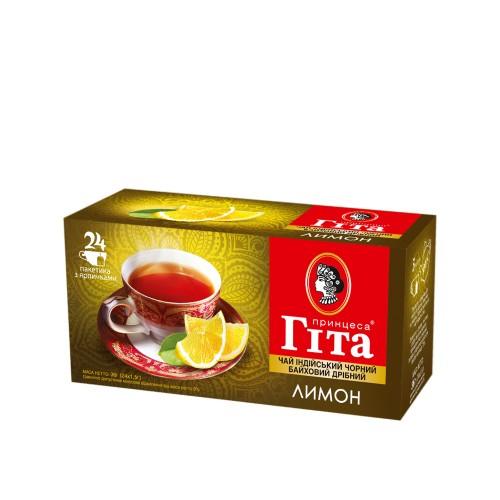 Чай індійський чорний байховий дрібний у пакетиках, 36 г ТМ «Принцеса ГІТА»