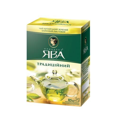 Чай китайський зелений байховий листовий «Традиційний» 85 г ТМ «Принцеса ЯВА»