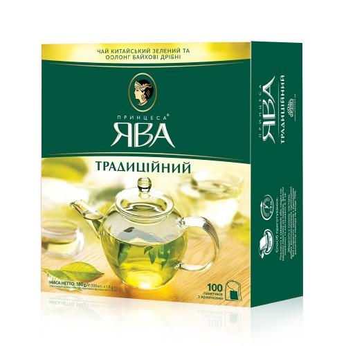 Чай китайський зелений та оолонг байхові дрібні у пакетиках, «Традиційний» 180 г ТМ «Принцеса ЯВА»