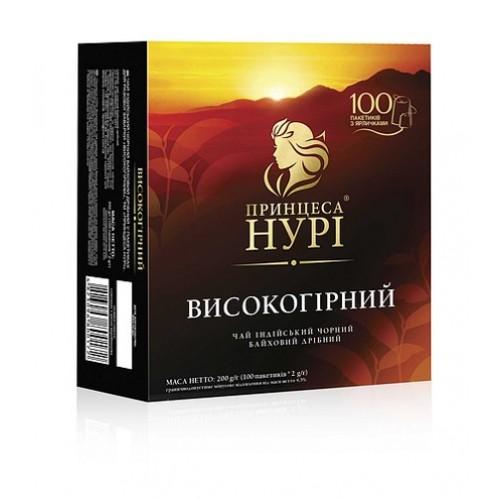 Чай індійський чорний байховий дрібний у пакетиках «Високогірний», 200 г ТМ «Принцеса НУРІ»