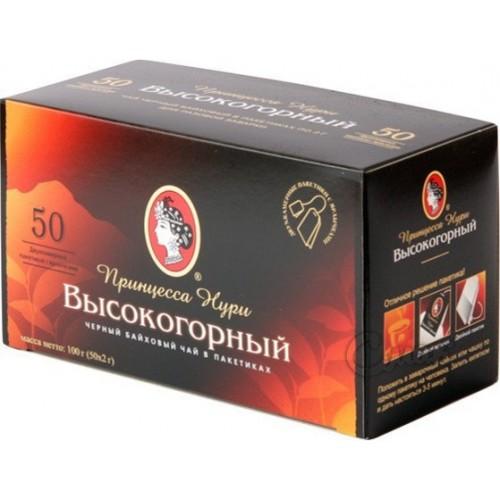 Чай індійський чорний байховий дрібний у пакетиках «Високогірний», 120 г ТМ «Принцеса НУРІ»