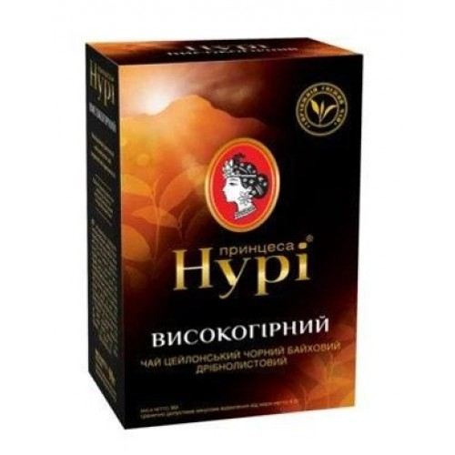 Чай чорний байховий дрібнолистовий «Високогірний», 85 г ТМ «Принцеса НУРІ»